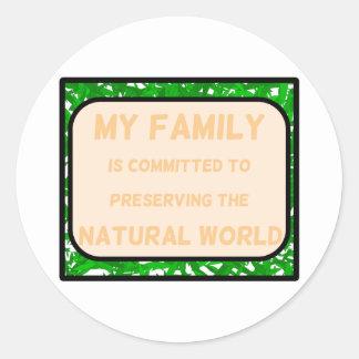 Natural World Round Sticker