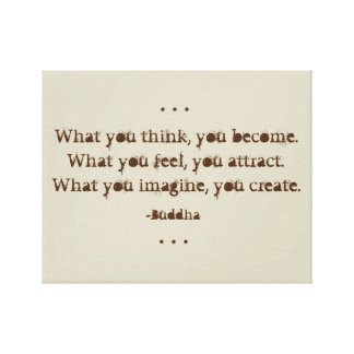 Natural Zen Quote by Buddha Canvas Print