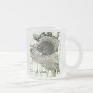 naturalbeauty frosted glass mug