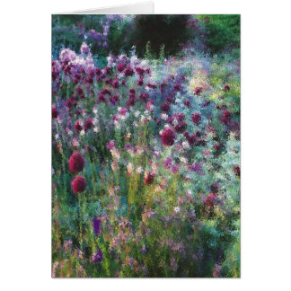 naturalistic garden.png greeting card