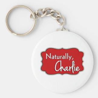Naturally, Charlie Logo 2 Key Ring