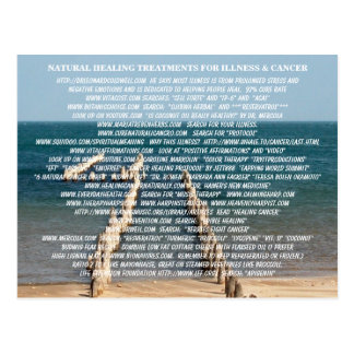 NATURALLY HEALING TREATMENTS FOR ILLNESS & CANCER POSTCARD
