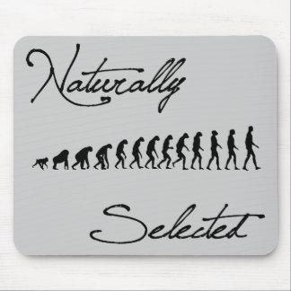 Naturally Selected Evolution Shirt Mouse Pad