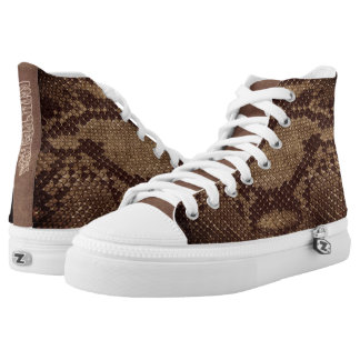Naturally Snake skin style High Top Printed Shoes