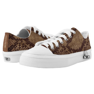 Naturally Snake skin style Low Top Shoes Printed Shoes