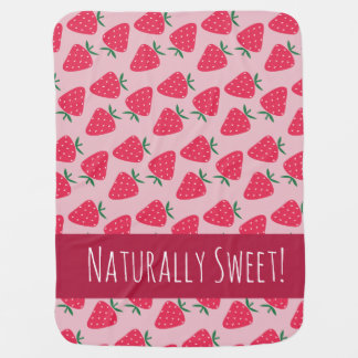 Naturally Sweet Strawberry Baby Girl blanket Buggy Blankets