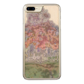 Nature abstract pattern carved iPhone 8 plus/7 plus case