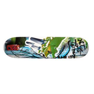 Nature against technology skateboard decks
