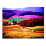 Nature and beauty harvest season  pennsylvania post card