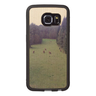 Nature and Cow Wood Phone Case