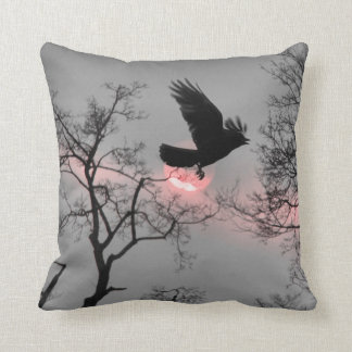 Nature and Crow Cushion