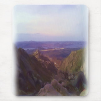 Nature and mountain oil paint mouse pad