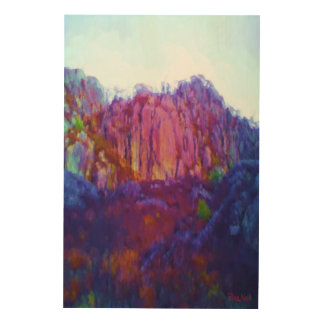 Nature and mountain wood wall art
