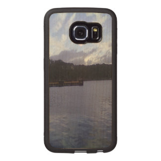 nature and sea two sun. wood phone case