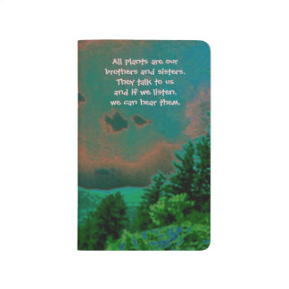 nature art and native american proverb journals