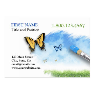 Nature Artist Painting Cloud Sky with Butterfly Large Business Cards (Pack Of 100)