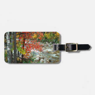 Nature Autumn Ready For Fall Luggage Tag