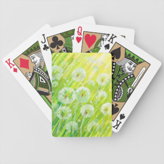 Nature background 2 bicycle playing cards