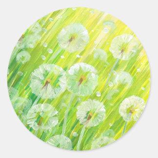 Nature background 2 round sticker