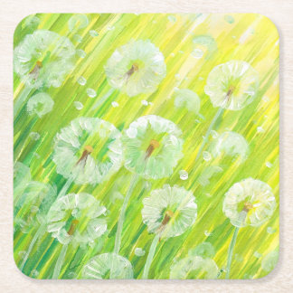 Nature background 2 square paper coaster
