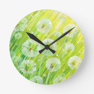 Nature background 2 wall clock
