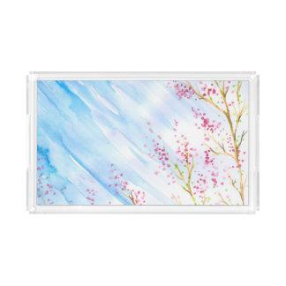 Nature background acrylic tray