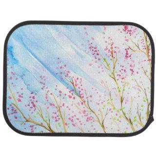 Nature background car mat