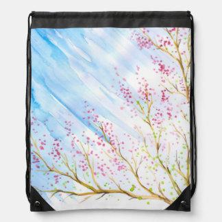 Nature background drawstring bag