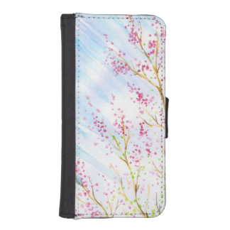 Nature background iPhone SE/5/5s wallet case