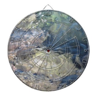 Nature background of transparent sea water flowing dartboards