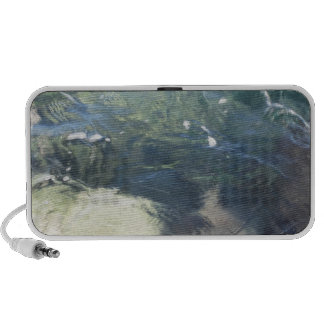 Nature background of transparent sea water flowing portable speaker