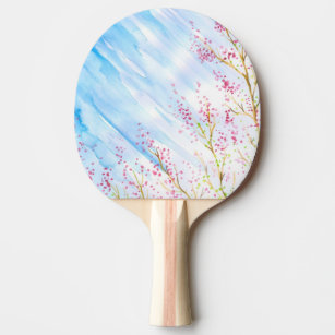 Nature background ping pong paddle