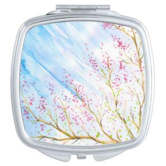Nature background vanity mirror