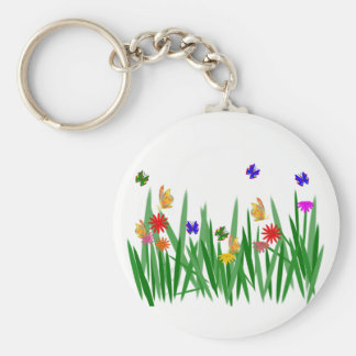 Nature Basic Round Button Key Ring