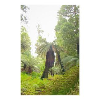 Nature beautiful green trees landscape of Tasmania Customized Stationery