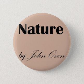 Nature by John Oven Logo Pin