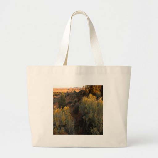 Nature Canyon Desert Brush Tote Bags