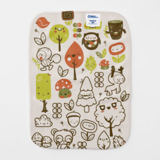 Nature Cheerful Happy Friends Burp Cloth