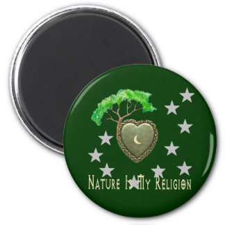 Nature Church 6 Cm Round Magnet
