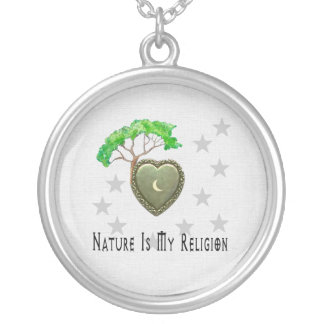 Nature Church Silver Plated Necklace