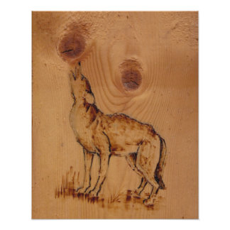 Nature Collection - Howling Wolf Poster