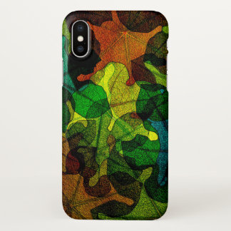 Nature colorful leaves iPhone x case