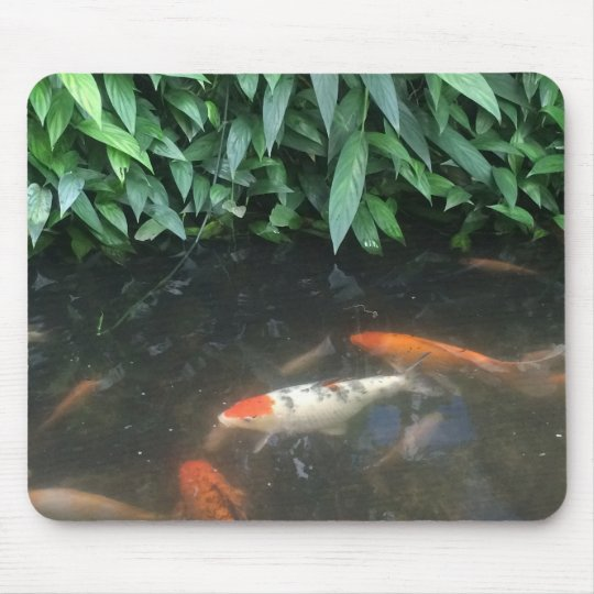 Nature Cool Koi Fishes in Pond Design Mouse Pad
