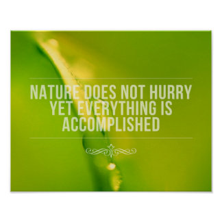 Nature Does Not Hurry | Inspirational Quote Poster