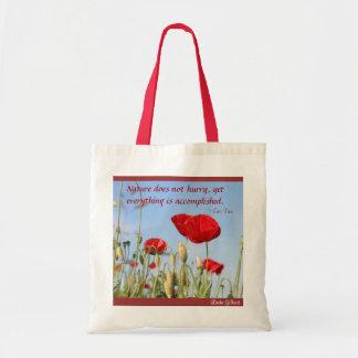 Nature does not Hurry poppies sky Linda Gilbert Bag