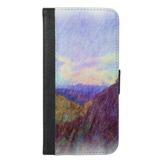 Nature Drawing iPhone 6/6s Plus Wallet Case