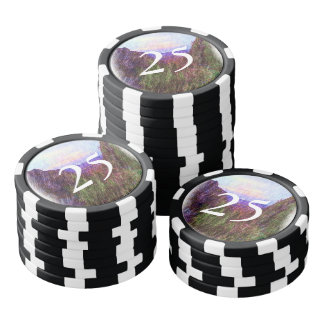 Nature Drawing Poker Chips