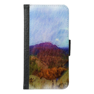 Nature Drawing Samsung Galaxy S6 Wallet Case