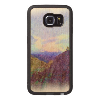 Nature Drawing Wood Phone Case