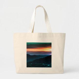 Nature Dusk Coloured Rainbow Canvas Bags